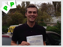 jonathan from High wycombe passed with adam iliffe driving instructor