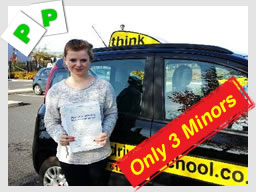 Happy think driving school learner on the day they passed