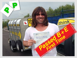jon from newbury passed B+E Trailer Lessons, Hampshire, Surrey, High Wycombe