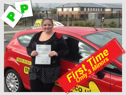 nikkita from aldershot passed first time with stuart from think driving school