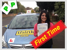 Arti from Frimley passed first time with pete at think driving school