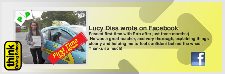 lucy diss left this awesome review of think drivng school and robert evamy adi