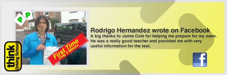 Rodrigo hernandez left this awesome review of think driving school's ross dunton adi