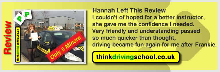 great 5 star review of driving instructor frances blatch from aldershot