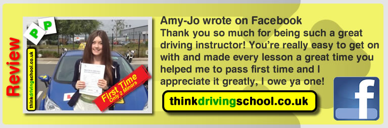 Amy-Jo left this awesome review of driving instructor stuart webb