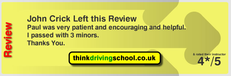 Dave passed and left this review of Watford driving instructor paul power