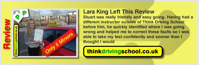Nicole mortimore left this awesome review of driving instructor stuart webb