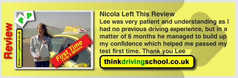 nicola from fareham left this review of driving instructor in fareham lee patterson