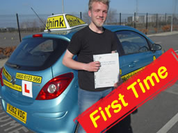 WELL DONE to Sam from Lindford who PASSED today with only 4 minors after taking lessons with Doug edwards