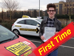 jak from aldershot passed firs time after drivng lessons with stuart webb adi