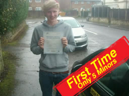 callum from chertsey passed first time after drivng lessons with jamie cole adi