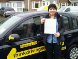 nicola passed today after driving lessons with rebecca gaywod adi