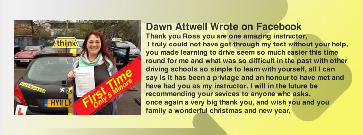 dawn passed first time with think drivnig school guildford