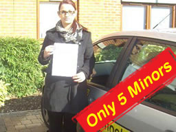 claire from camberley passed after drivng lessons with martin hurley