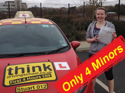lucy from bordon passed after drivng lessons with stuart webb of think driving school