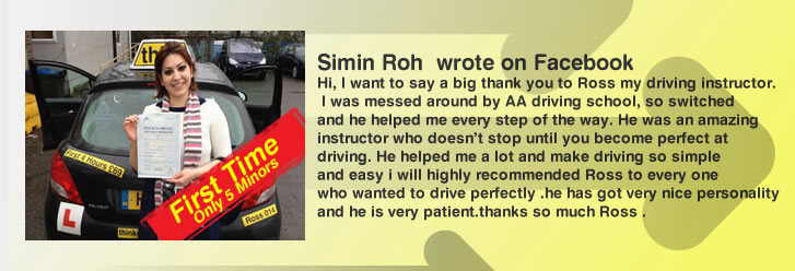 simia left a grat review for think driving school and ross dunton