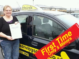 paula from alton passed with think drivnig school
