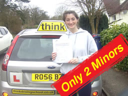 jasmin from farnham passed with think drivng school