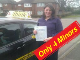 natalie from bagshot passed after drivng lessons with think driving school