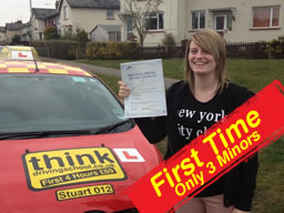 Zoe nolan from pinner passed after drivng lessons with paul fowler