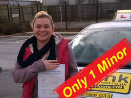 sian passed after driving lessons with tim price-bown from frimley