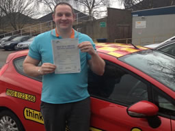 sean from farnborough passed with driving instructor stuart webb