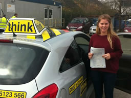 aneira from haslemere passed after driving lessons from ian weir