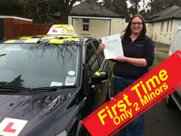hannah passed with driving instructor pete labrum