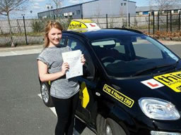claire from headley passed today with rebecca gaywood at think driving school