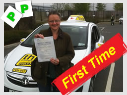 kate from camberley passed with pete labrum Adi at think drivng school