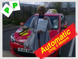 juliett passed her automatic driving test with think driving schools allen stanley