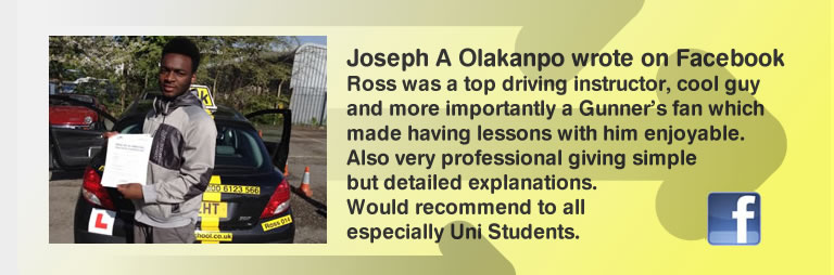 Joseph a Olakanpo left a 5 star review of think drivnig school and ross dunton