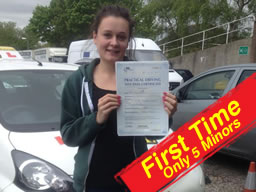 sarah passed after drivng lessons in headley with wendy mclaren