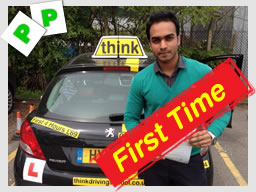 abdul passed with drivng instructor ross dunton