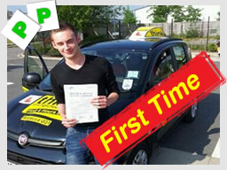 dave from bordon passed at farnborough test centre with rebecca gaywood adi