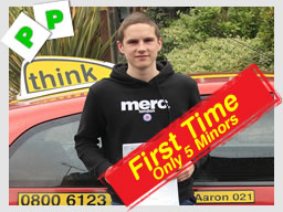 matt passed after driving lessons in farnborough with aaron gee