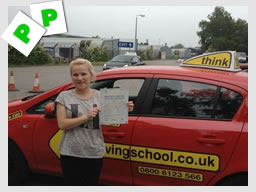 donna passed after driving lessons in alton with ian weir
