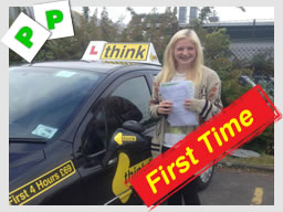 Well done Holly from Froxfield who passed today, FIRST TIME with wendy mclaren from bordon