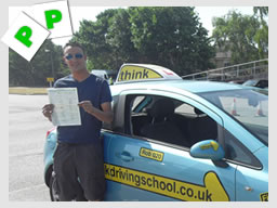 aniie from farnham passed with adi stuart webb from aldershot