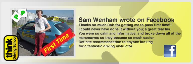 Sam wenham Passed with think drivnig school and left this awsome review of robert evamy