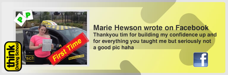 marie hewson left this awesome review of think drivng school and jamie johnson