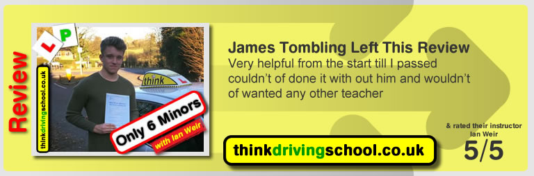 Passed with think driving school in November 2016