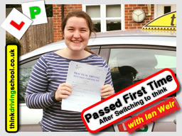 Chloe Passed with driving instructor ian weir from Alton