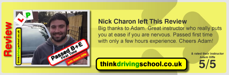 Passed with think driving school in March 2017 and left this review