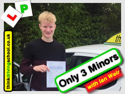 Passed with think driving school in April 2017 and left this review