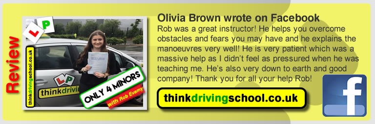 Passed with think driving school in June 2017 and left this review