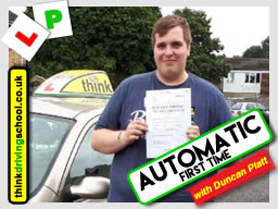 driving lessons Bracknell Duncan Platt think driving school August 2017