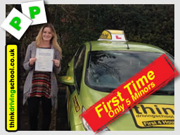 WELL DONE Steph from Wickham who passed yesterday FIRST TIME with Lee @ www.thinkdrivingschool.co.uk & only 5 minors