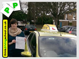 WELL DONE Natasha from Fareham who passed with lee