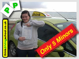 WELL DONE Michaela from Gosport who passed today with Lee @ www.thinkdrivingschool.co.uk & only 5 minors